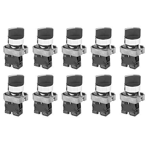 Interruptores de botón, interruptor de perilla NC, 10 piezas de alto impulso para botón de máquina(BEM-XB2-10X/21, pink)