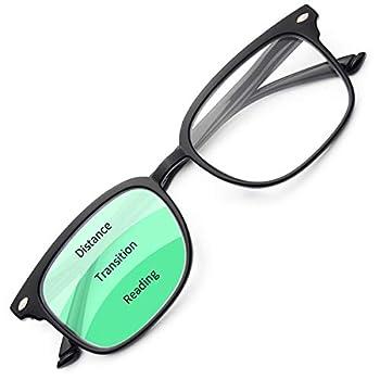 Gaoye Progressive Multifocus Reading Glasses Blue Light Blocking for Women Men,No Line Multifocal Readers with Spring Hinge  Light Black/GY1701 2.0
