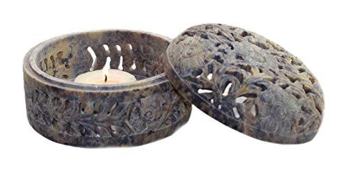 Budawi® - Räucherschale aus Speckstein Ø 10 cm, Schale zum Räuchern Räucherkegel