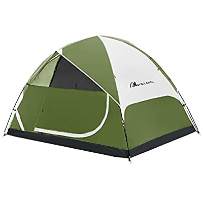 MOON LENCE Camping Tent 2/4/6 Person Family Tent Double Layer Outdoor Tent Waterproof Windproof Anti-UV (4 Person Tent)