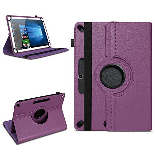 Tablet Tasche für 10-10.1 Zoll Hülle Schutzhülle Hülle Cover 360° Drehbar Neu, Farben:Lila, Modell:Acer Iconia Tab 10 A3-A40