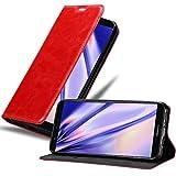 Cadorabo Hülle für Huawei P SMART 2018 / Enjoy 7S in Apfel ROT - Handyhülle mit Magnetverschluss, Standfunktion & Kartenfach - Hülle Cover Schutzhülle Etui Tasche Book Klapp Style