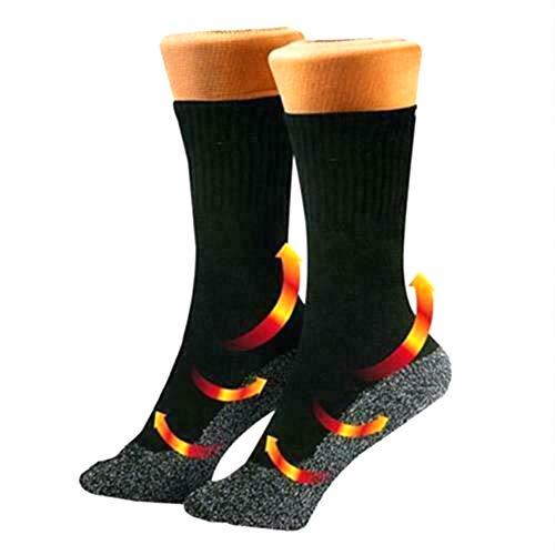 Leikance Warme Wintersocken für Damen und Herren, Aluminisierte Faser, Thermosocken für Outdoor-Sport, 1 Paar