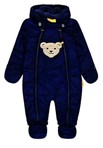 Steiff Baby-Jungen Schneeoverall Schneeanzug, Blau (Marine|Blue 3032), 86