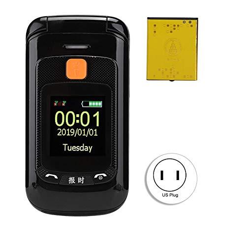 Zopsc Flip Mobile Phones Unlocked with 2.4 inch Touch Screen Dual SIM Dual Standby Mobile Phone for Elderly Big Buttons, 2800mAh Battery Long Standby(US Plug)