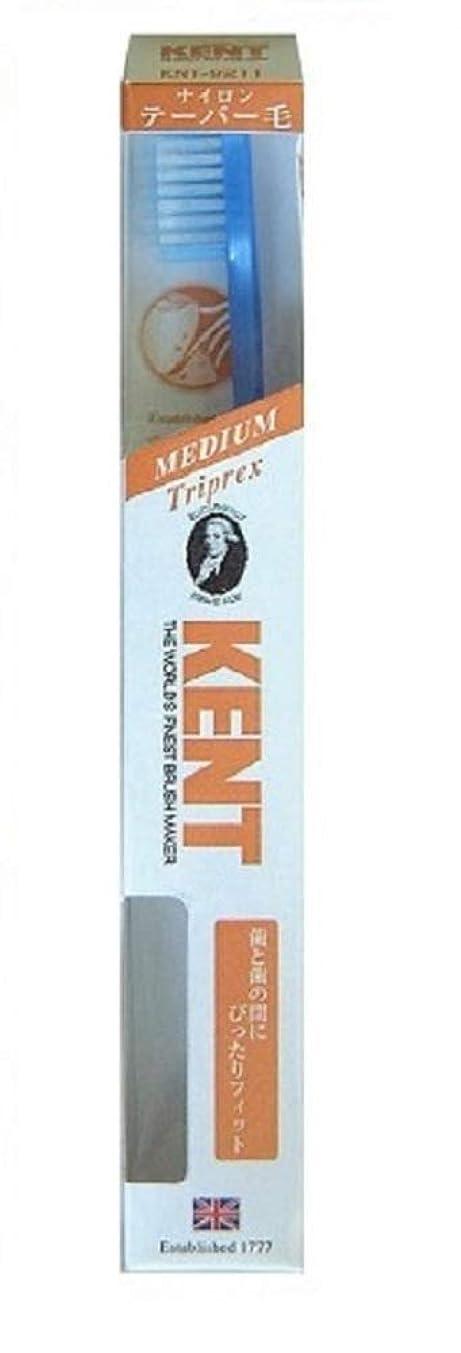 遅滞いいね幻想的KENT(ケント) トリプレックス ナイロン歯ブラシ ふつう KNT9211 パールブルー