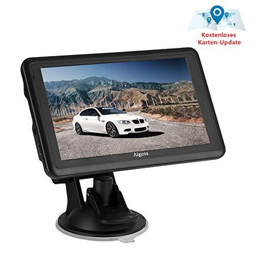 2020 Navigation für Auto, Aigoss 5 Zoll Touchscreen 8GB LKW PKW KFZ GPS Navi Navigationsgerät mit POI Sprachführung Fahrspurassistent Lebenszeit Kostenlose Kartenupdates
