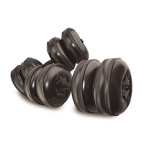 Travel Weights Water Filled Dumbbells Set for Man & Women, Adjustable Free Water Dumbbells Up to 22~45Lbs for Exercise Fitness Weightlifting Training, Portable Gift for Gym & Hiking(Black).