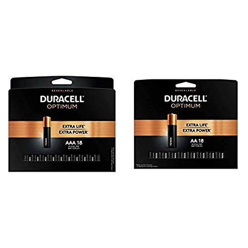 Duracell Optimum AA + AAA Alkaline Batteries - Long Lasting, All-Purpose Double & Triple A - 10 Count