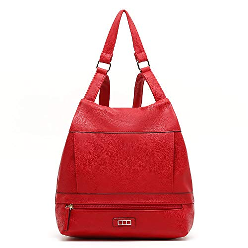 Misako Mochila Suli | Mochila para Mujer, Diseño Práctico, Tiras Regulables, Color Rojo, 11x28x30 cm