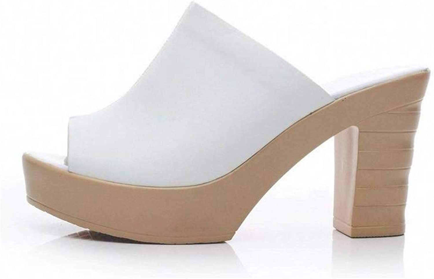Hoxekle Woman's Peep Toe Platform High Chunky Heel Sandals Lady Sexy Casual Summer Clog Sole shoes