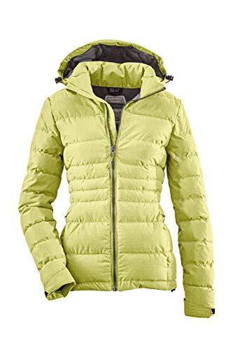 Killtec Edna - Chaqueta acolchada con capucha desmontable para mujer, Mujer, 31047-000, Color verde natural., 34