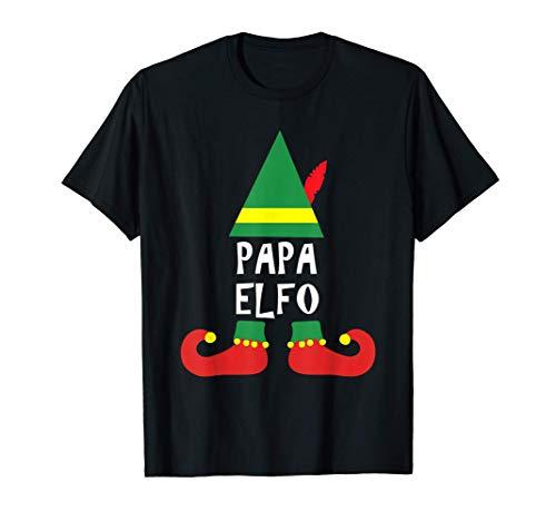 Hombre Ropa de Navidad para Familia - Papa Elfo Camiseta