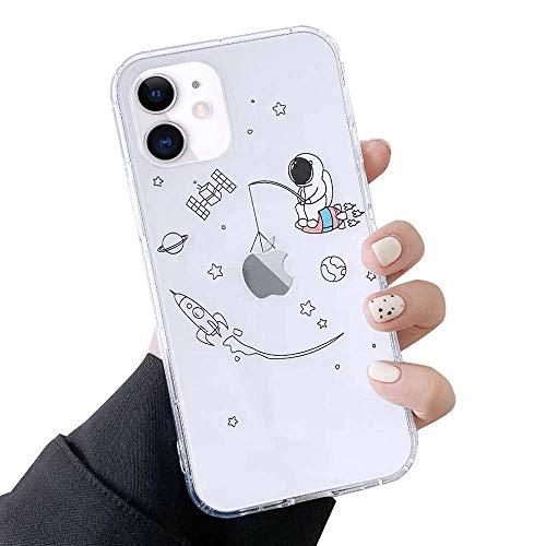 ROSEHUI Rosseui - Funda para teléfono móvil compatible con iPhone 7 Plus, iPhone 8 Plus, diseño de astronauta