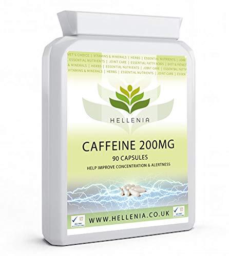 Hellenia Caffeine 200mg - 90 Capsules - Focus, Alertness & Energy