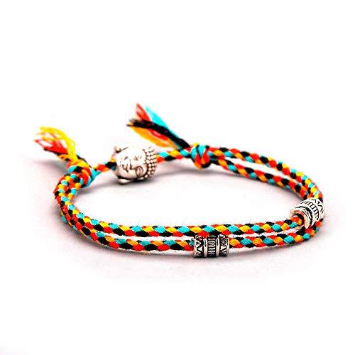 Buntes Buddha Tibet Ethno Armband für Glück, Freundschaft und Schutz