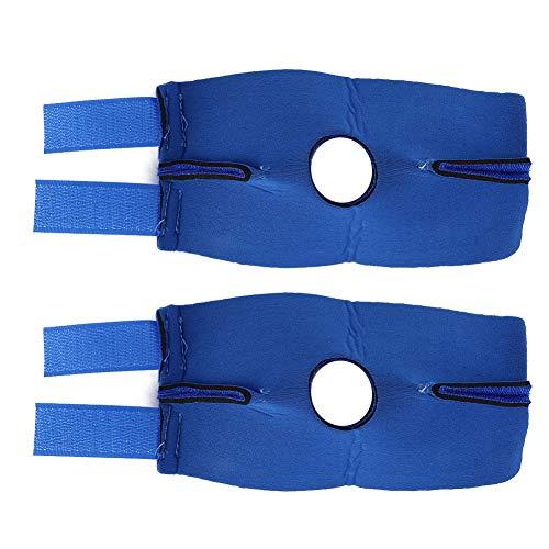 SALUTUYA Wundheilungsunterstützung für Haustiere, Polyester-Baumwollmaterial, für die Wiederherstellung von Haustieren nach Einer Operation, Tool zur Wiederherstellung(Blue, Back Leg L (2 pcs/Set))