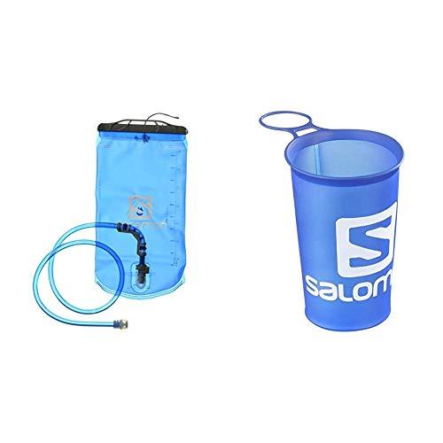 Salomon Soft Reservoir + Soft Cup Speed Vaso Flexible de 150 ml para Botella, Unisex Adulto, Azul, Talla única