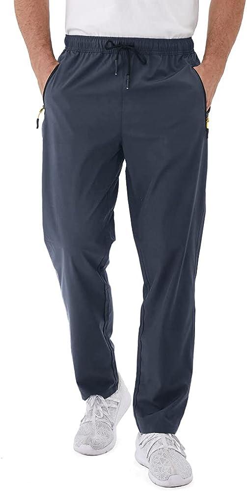 Rapoo Men's Sweatpants Choice Our shop most popular Zipper Exercise Pants Pockets Lightweight
