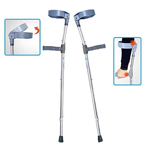 LOO LA Lichtgewicht Onderarm Krukken voor Lopen/Volwassene/Aluminium/Vermindert Arm Vermoeidheid & Artritis Pijn/Verstelbaar