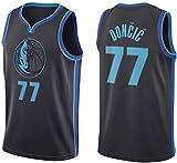Oxyco Camiseta de Baloncesto para Hombre, Dallas Mavericks #77 Luka Doncic. Bordado, Transpirable y Resistente al Desgaste Camiseta para Fan (City Jersey, L)