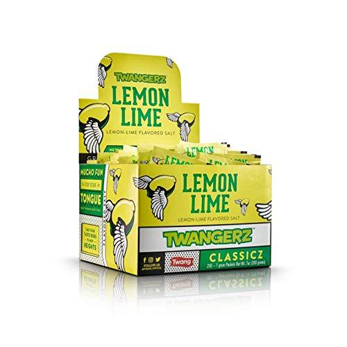 Twangerz Snack Topping, Lemon Lime, 1 Gram Packets (Pack of 200)