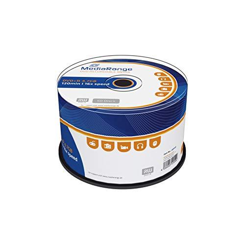 MediaRange DVD+R 4.7Gb|120Min 16-fache Schreibgeschwindigkeit, 50er Cakebox, MR445
