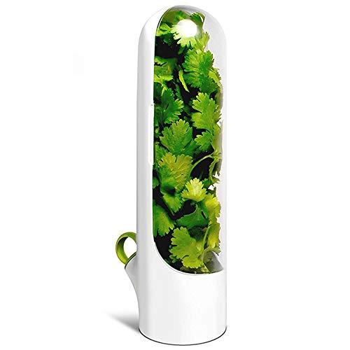 Recipiente de Almacenamiento de Hierbas ABS Premium Herb Keeper, Protector de Hierbas sin BPA Que Mantiene Frescas Las Verduras Durante más Tiempo para Utensilios de Almacenamiento de Cocina