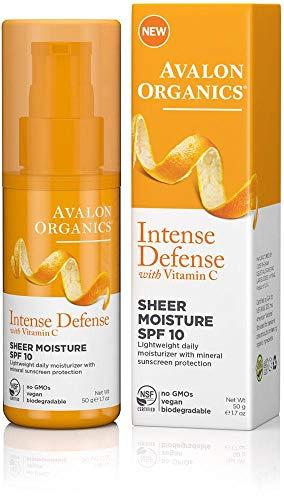 Avalon Organics Intense Defense with Vitamin C SPF 10-1.7 oz - 2p