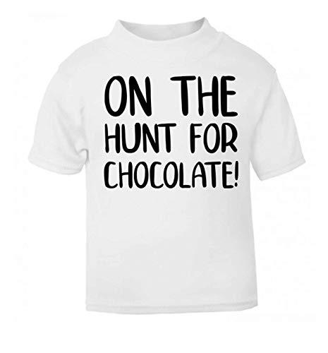 Flox Creative T-Shirt pour bébé Motif Chasse-Chocolat - Blanc - 2 Ans