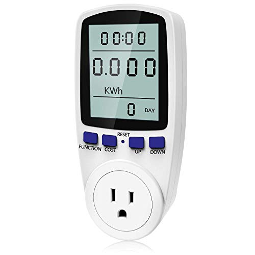 Kuman Electricity Usage Monitor Plug Power Meter Energy Watt...