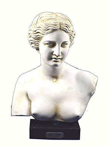 Estia Creations Busto de la escultura de Afrodita Venus Diosa del Amor Gran Estatua Artefacto