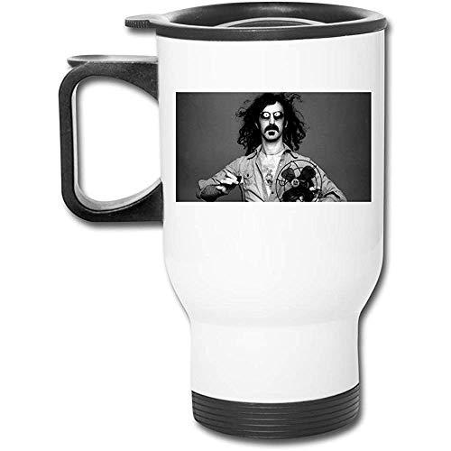 Bert Austin Bottiglia da acqua in acciaio inossidabile isolata sotto vuoto Frank Zappa Fashion Tazza da viaggio glassata per caffè o tè bianco