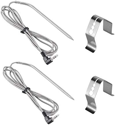 Grillme 2 Sets Replacement High Temperature Meat BBQ Probe for Camp Chef NTC Pellet Grills with product image