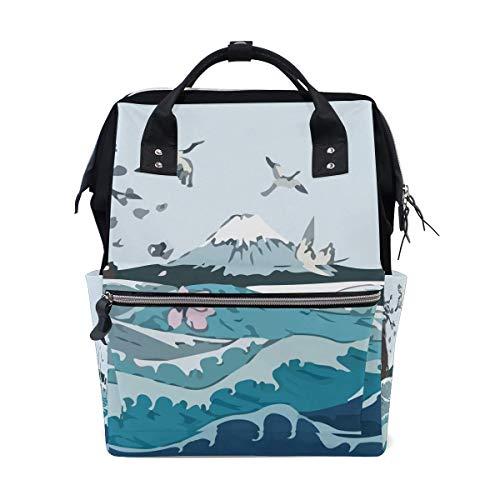 Wave Ocean Fuji kraan luier zakken grote reizen luier verpleegkundige rugzak mama tas