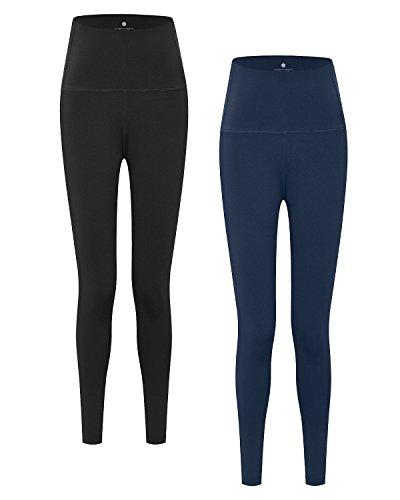 LAPASA Pantalón Deportivo de Mujer PACK de 2 Leggings para Running, Yoga y...
