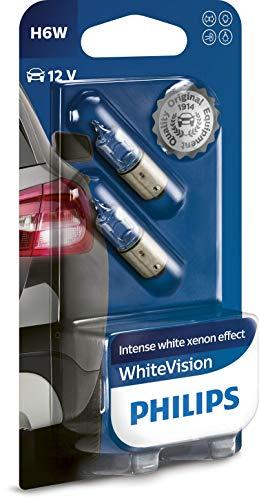 Philips 12036WHVB2 Whitevision Ampoule Automobile Effet Xénon 4300K Compatible Habitacle, Clignotants, Signalisation H6W 12 V 6 W