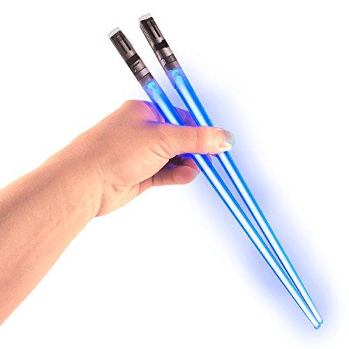 Chop Sabers Light Up LightSaber Chopsticks, Blue Pair