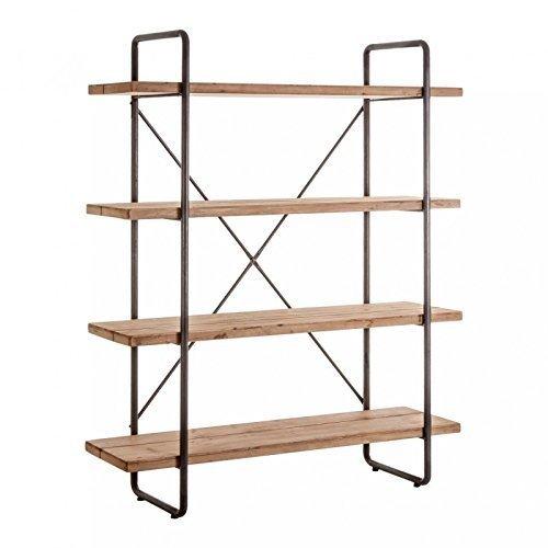 Indhouse - Estantería loft con estilo industrial en metal y madera Wilder
