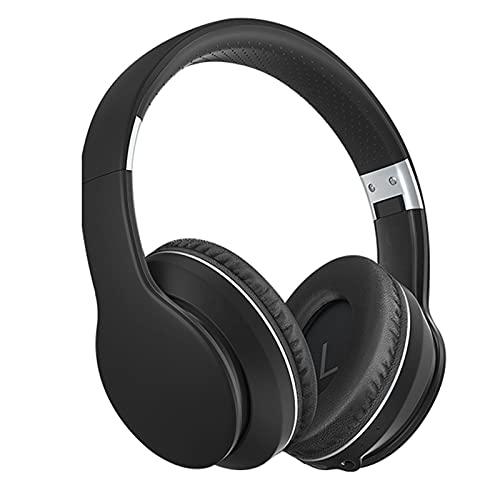 SKK Auriculares Gamer Auriculares Bluetooth sobre oído, Auriculares estéreo inalámbricos con Auriculares inalámbricos y con Cable con, TV/teléfono Celular/PC Cascos Gaming (Color : Black)