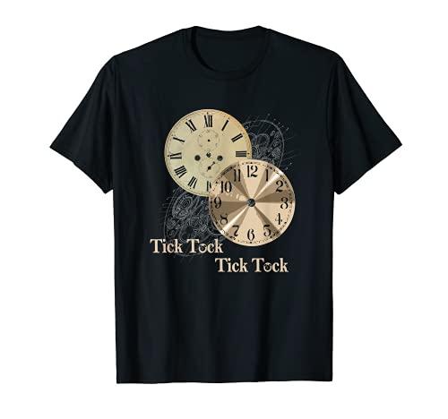 Grandfather Alarm Clock Time Tick Tock Clock T-Shirt T-Shirt