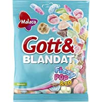 Malaco Gott&BLANDAT フィジー ポップ味 Gummy 130g x 15個セット フィンランドのお菓子です [並行輸入品]