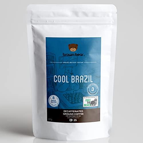 Brown Bear Cool Brazil Café Moulu Décaféiné, Swiss...