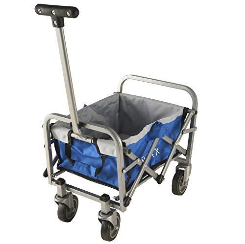 IMLEX Mini Spielzeug Bollerwagen blau faltbar für Kinder für Puppen oder andere Spielsachen