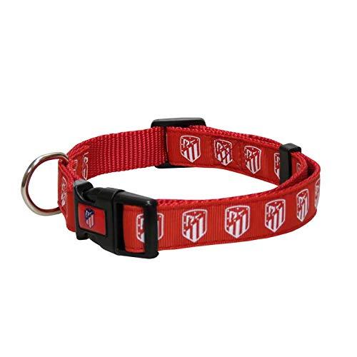 Atletico de Madrid CL-20S-ATL Collar para Perro, Talla S