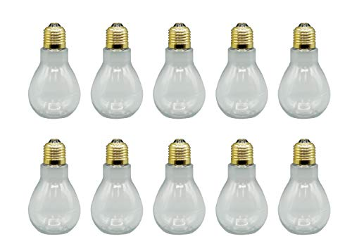Clear Plastic Fillable Light Bulbs - Set of 10 - Candy or Crafts