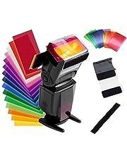 HASTHIP® 12pcs Strobist Flash Color Card Diffuser Lighting Gel Pop up Softbox Fit for Canon 580EX II 430EX II 600EX 270EX II, Nikon SB900/800/700/600/910, Yongnuo YN568EX/565EX/500EX/560/468/460/685