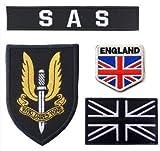 Oyster-Patch - Gancho de Parche táctico SAS del ejército británico del Reino Unido, Negro
