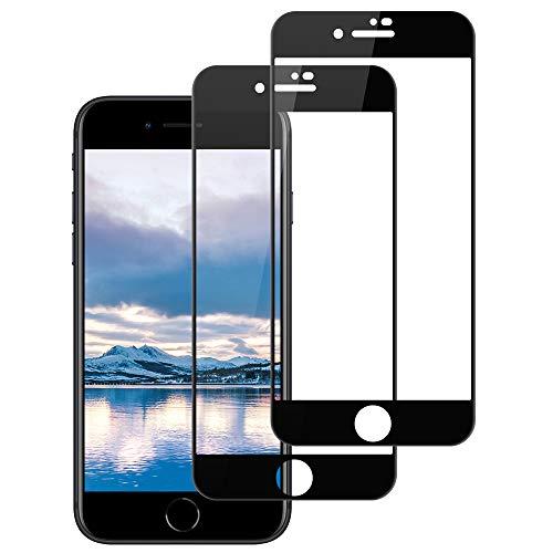 [2 Stück] Panzerglas Schutzfolie für iPhone SE 2020/iPhone 8/iPhone 7 (4,7''), Full Screen Panzerglasfolie, 9H Härte, Anti-Fingerabdruck, Anti-Öl, Displayschutzfolie für iPhone SE 2020/8/7