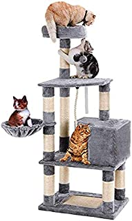 SENYE PET Cat Tree Tower Condo Furniture Kitten Pet Kitty Play House with Scratching Posts, Hammock, Basket, Activity Centre - for Kittens, Cats and Pets